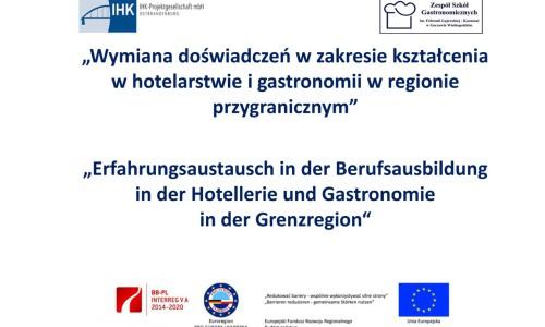 Wymiana doświadczeń w zakresie kształcenia w hotelarstwie i gastronomii w regionie  przygranicznym