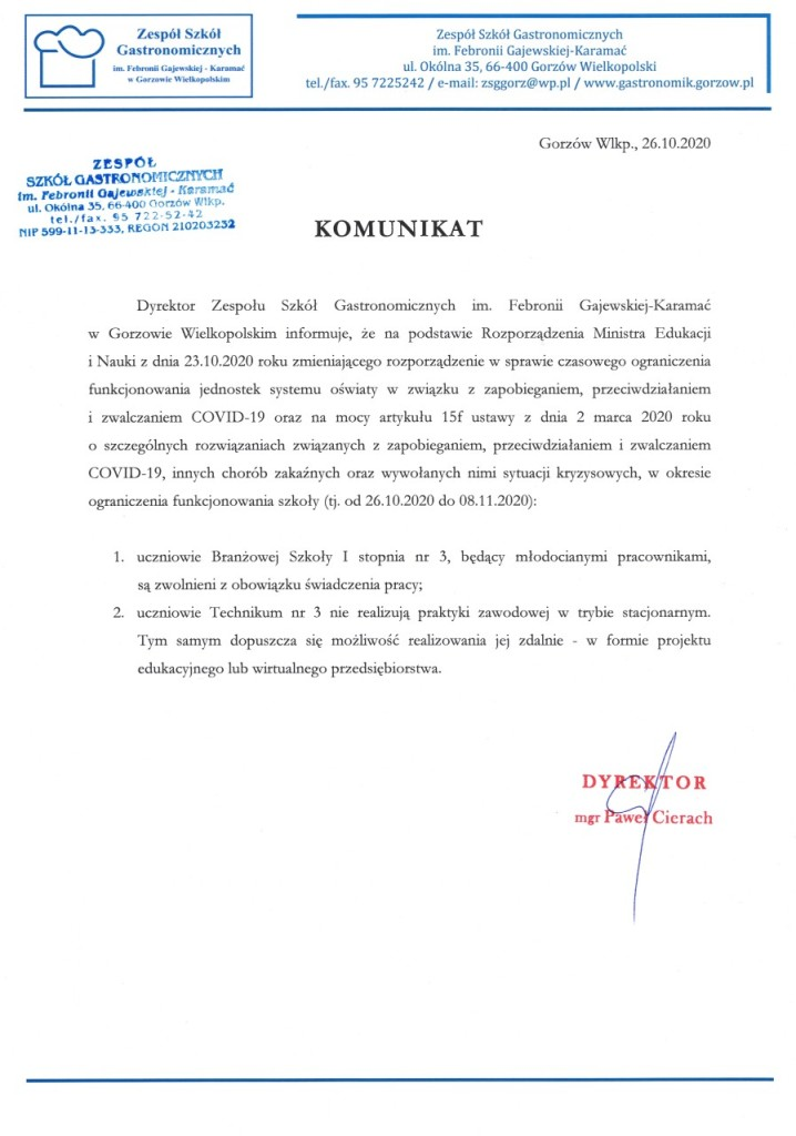 KOMUNIKAT_DYREKTORA
