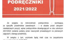 PODRĘCZNIKI W ROKU SZKOLNYM 2021/2022
