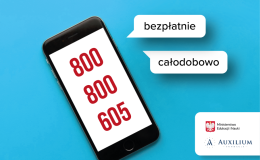 """800 800 605 – CAŁODOBOWA BEZPŁATNA INFOLINIA """"POMAGAMY"""""""